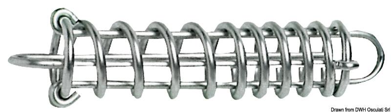 Molla ormeggio in acciaio lucidato a passo variabile