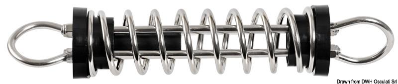 Molla ormeggio in acciaio inox lucidato