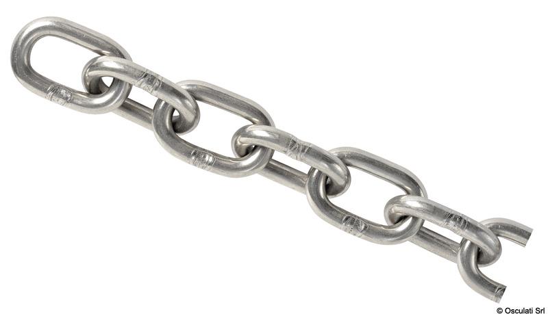 Catena a maglia genovese in acciaio inox AISI 316