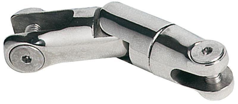 Attacco girevole a doppio snodo per ancore