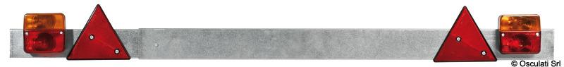 Barra posteriore luci regolabile 110/190 cm
