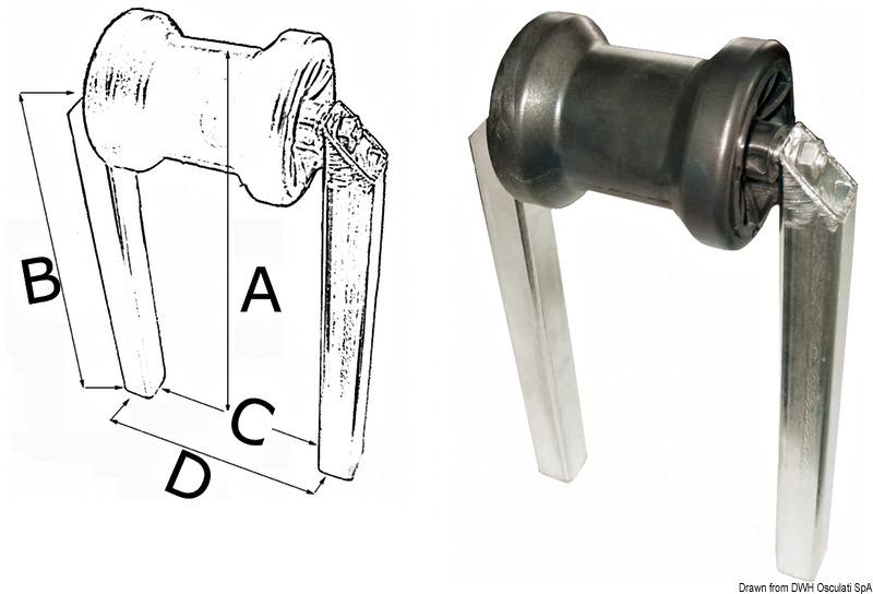 Rullo centrale fisso doppio tubo