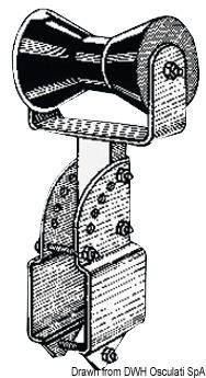 Rullo centrale reggichiglia piccolo con supporto regolabile