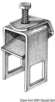 Staffa di bloccaggio rullo laterale