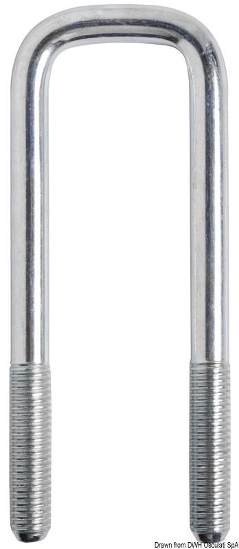 Staffa ad U per fissaggio rulli centrali fissi o basculanti