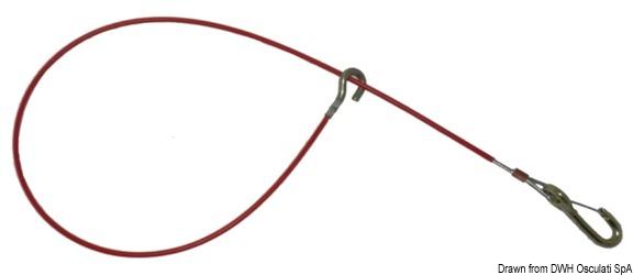 Fermo di sicurezza 950 mm Ø 3 mm