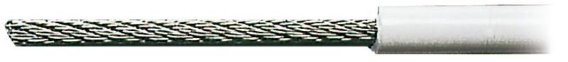 Cavo in acciaio inox AISI 316 rivestito in PVC bianco