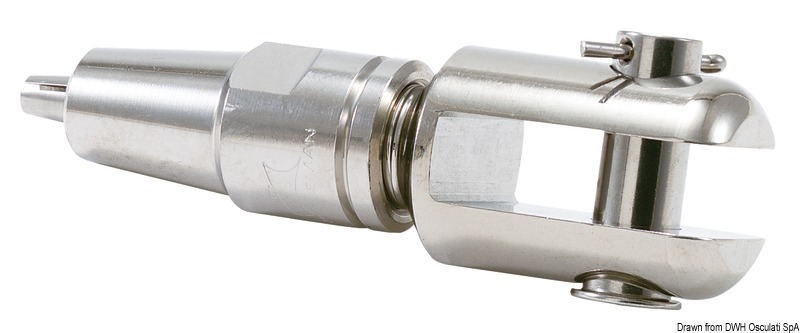 Terminale LEWMAR in acciaio inox 316 a forcella