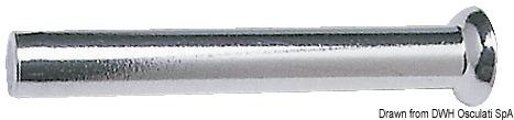 Terminale in acciaio inox AISI 316 con testina sferica da pressare sui cavi