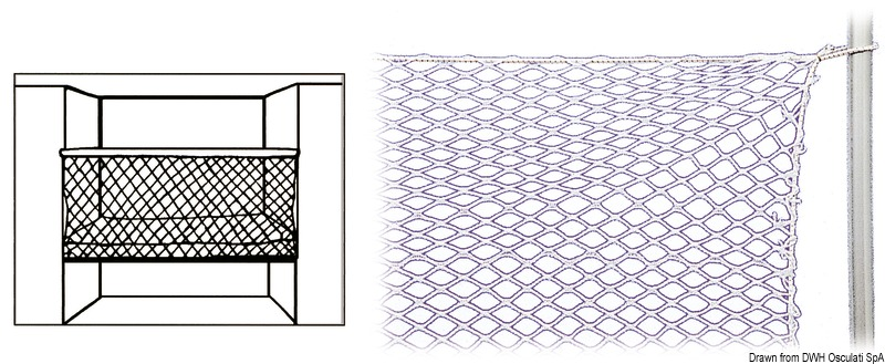 Rete nylon per protezione cuccette