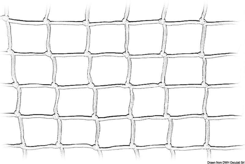 Rete annodata in nylon per recinzione pulpito o porta oggetti