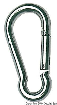 Moschettone in acciaio inox AISI 316 lucidato a specchio