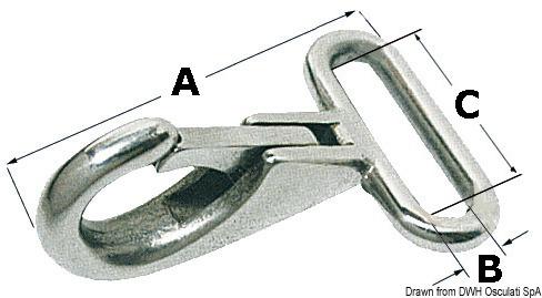 Moschettone per nastro mm 48x25