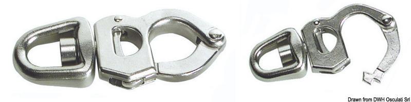 Moschettone in acciaio inox per scotte, drizze, spinnaker
