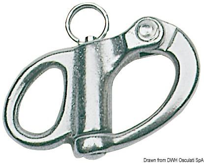 Moschettone in acciaio inox per spinnaker, drizze ed usi generici