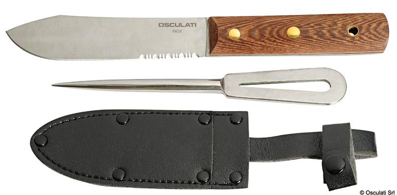 Parure coltello inox + punteruolo