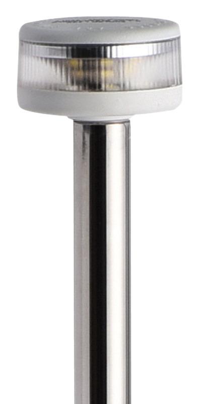 Asta luminosa completa di fanale Evoled 360° - Versione estraibile con basetta in nylon / acciaio inox lucidato