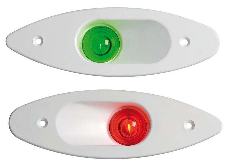 Fanale ABS ad incasso verde/bianco - 11.129.12