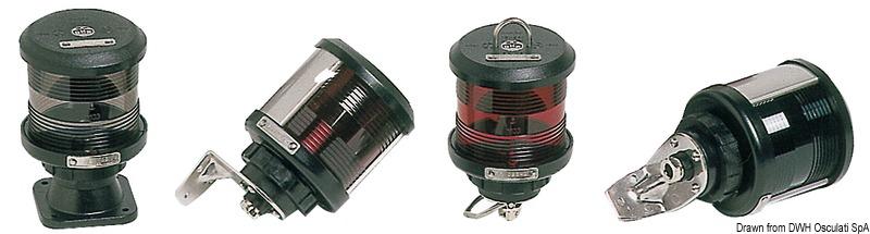 Luci di navigazione per scafi fino a 20 m DHR con omologazione MED 96/98 - EC