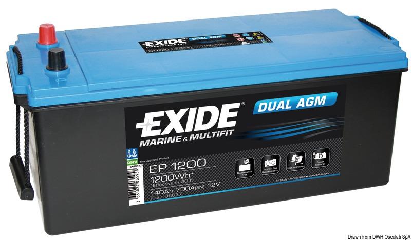 Batterie EXIDE Agm per servizi ed avviamento