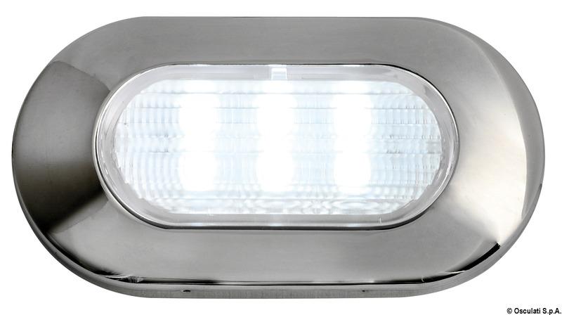 Luce di cortesia ovale 6 LED blu - 13.178.03