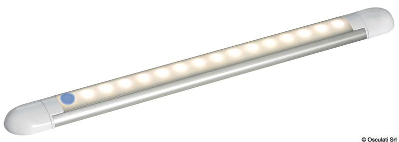 Plafoniera lineare a 14 LED bianca 12 V