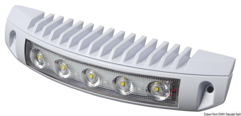 Faretto a 5 LED bianchi