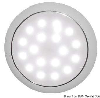 Plafoniera LED senza incasso Day/Night cromata - 13.408.12