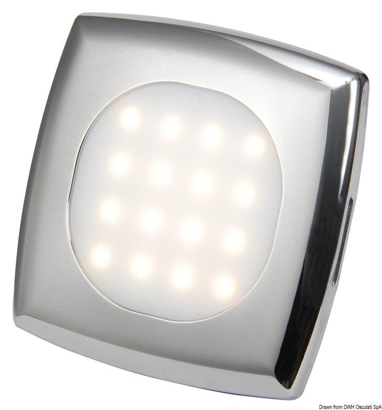 Plafoniera quadrata LED