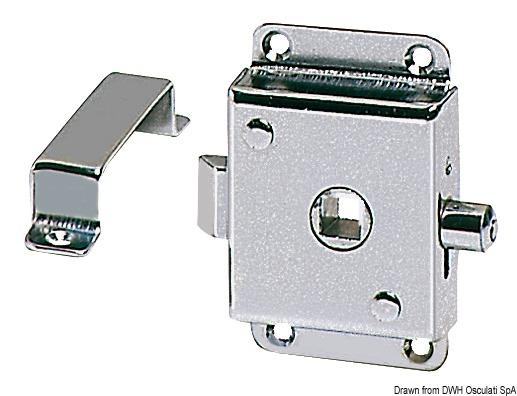 Serratura per WC ottone cromato 70x45 mm