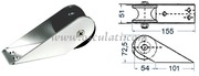 Accessori Nautici - Musone di prua in acciaio inox Lunghezza mm: 155