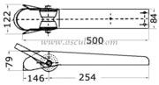 Accessori Nautici - Musone di prua in acciaio inox Lunghezza mm: 500