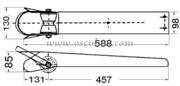 Accessori Nautici - Musone di prua in acciaio inox Lunghezza mm: 588