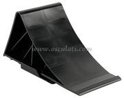 Accessori Nautica Supporto + cuneo plastica nera  [0201090]<br/><font color=#962308>Quantità Minima: 2 pezzi (5.59€ al p.zo) </font>