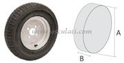 Accessori Nautica Ruote pneumatiche per carrelli alta velocità 4/8