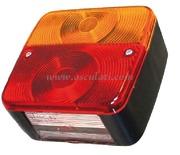 Accessori Nautica Fanale posteriore SX 4 funzioni 2 lampadine  [0202106]<br/><font color=#962308>Quantità Minima: 2 pezzi (3.06€ al p.zo) </font>