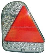Fanale posteriore a LED con catadiottro triangolare