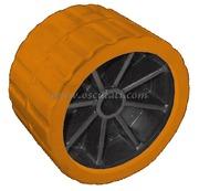 Accessori Nautica Rullo laterale arancio 75 mm diamatro foro 15 mm  [0202904]