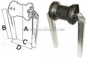 Accessori Nautica Rullo centrale piccolo tubo 30 x 30 mm  [0203010]