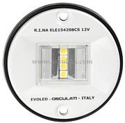 Fanali di via EVOLED con sorgente luminosa a LED a basso consumo. Fino a 12 m. Corpo ABS Bianco - Tipo Bianco 135 gradi Poppa