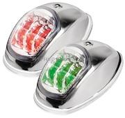 Fanali di via EVOLED con sorgente luminosa a LED a basso consumo. Fino a 12 m. Corpo Acciaio Inox lucido - Tipo Rosso/Verde 225 gradi Bicolore