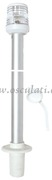 Accessori Nautica Asta 100 cm fanale 360 gradi bianco  [1112001]