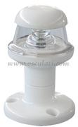 Luci di via a LED serie ORIONS fino a 20 m - Corpo in plastica bianca - Bianco 360 gradi testa albero