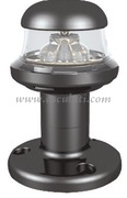 Luci di via a LED serie ORIONS fino a 20 m - Corpo in plastica nera - Bianco 360 gradi testa albero