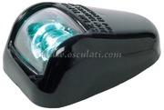 Luci di via a LED serie ORIONS fino a 20 m - Corpo in plastica nera - Verde 112,5 gradi Destro