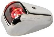 Luci di via a LED serie ORIONS fino a 20 m - Corpo in INOX - Rosso 112,5 gradi Sinistro