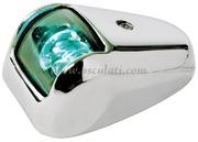 Luci di via a LED serie ORIONS fino a 20 m - Corpo in INOX - Verde 112,5 gradi Destro