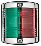 Luci di via UTILITY 85 in acciaio inox. Rosso/Verde - 225 gradi Bicolore