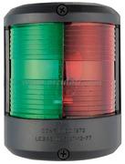 Serie fanali UTILITY 78 - Carcassa nera - 12 V - Tipo Rosso/Verde 225 gradi Bicolore