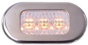Accessori Nautica Luce cortesia inox 3 LED gialli  [1318101]<br/><font color=#962308>Quantità Minima: 2 pezzi (4.8€ al p.zo) </font>